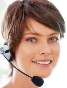 utilisatrice d'un standard téléphonique